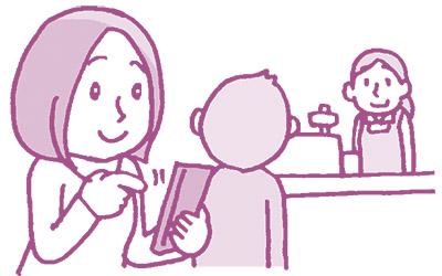 画像2: シンプルな2種類の支払い方。会計時間も現金より早い!
