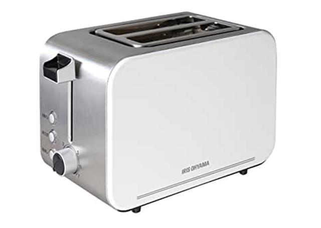 画像: ポップアップ・トースターの「アイリスオーヤマ IPT-850-W」 www.amazon.co.jp