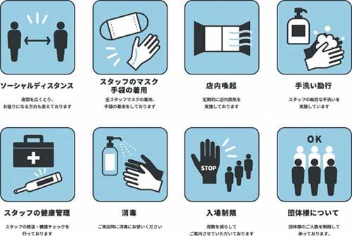 画像: Nomad Grill Loungeが提示している感染予防のガイドライン prtimes.jp