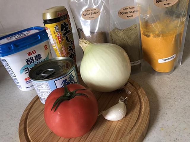 画像: 自宅に常備しているものが大半。スパイスがあればすぐに調理できます。
