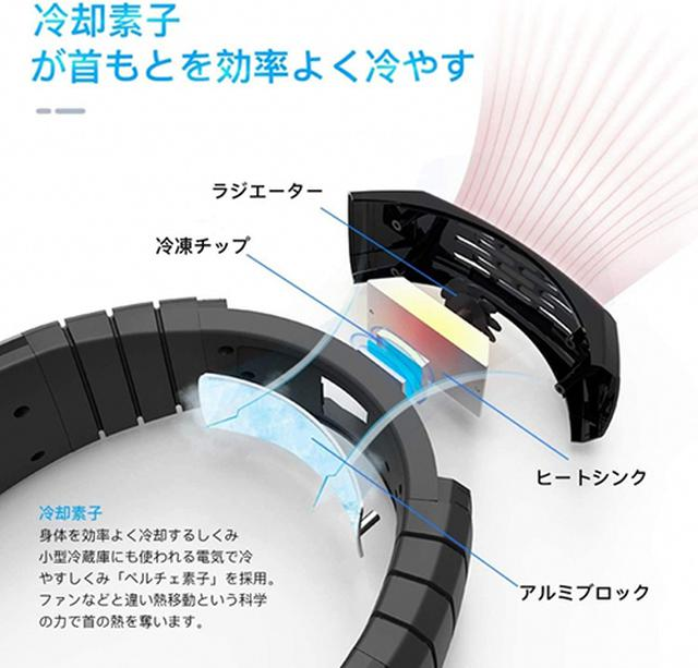 画像: 首の後ろ部分にペルチェ素子を採用。 prtimes.jp