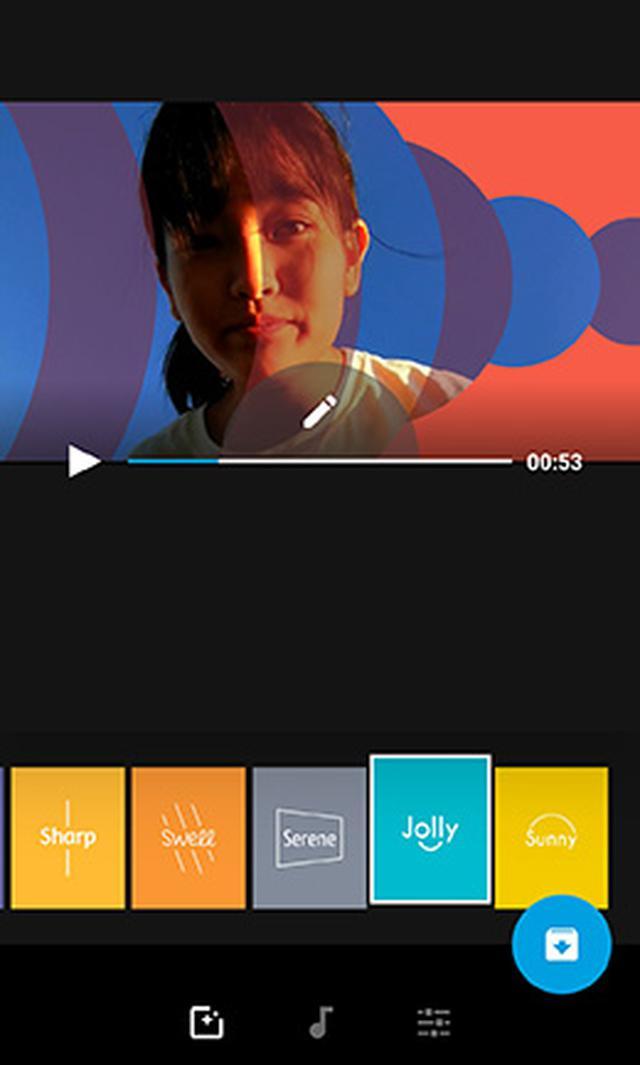 画像: 編集パターンは23種類。家族を撮影した動画もまったく違う雰囲気に仕上がる。