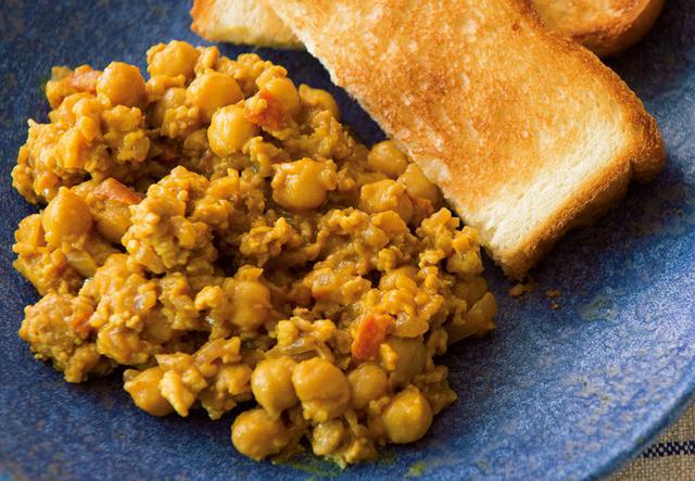 画像1: ひよこ豆のキーマカレー