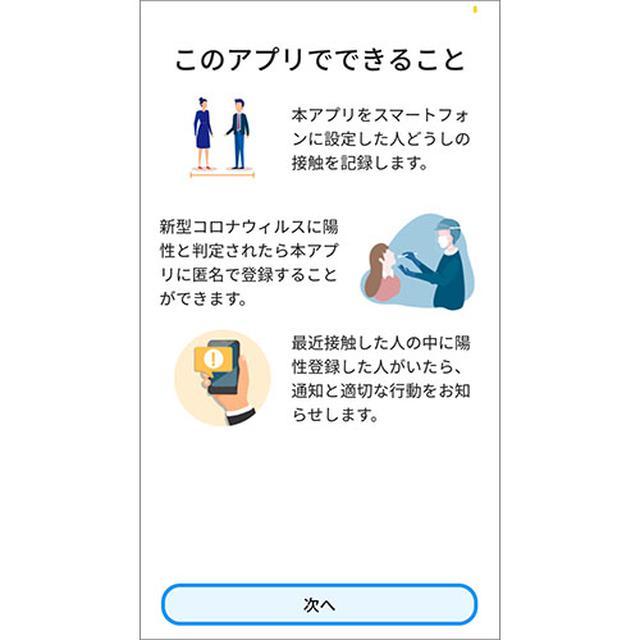 画像: アプリ初回起動時に確認できるアプリの紹介