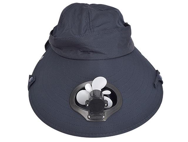 画像1: ファン付き帽子で蒸れと暑さを軽減!