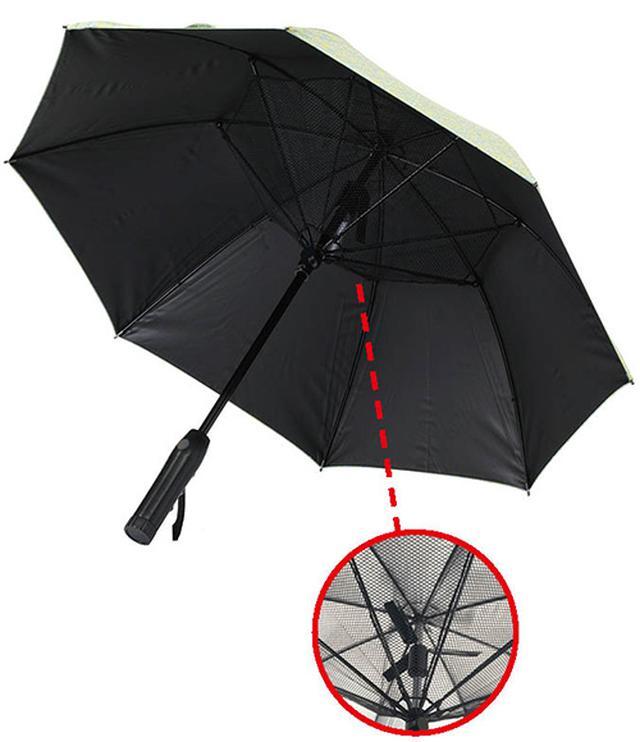 画像: 「ファンファンパラソル」扇風機付き