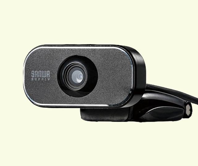 画像: ウェブカメラ パソコンのUSBポートに接続すると、撮った映像をリアルタイムで表示できる。