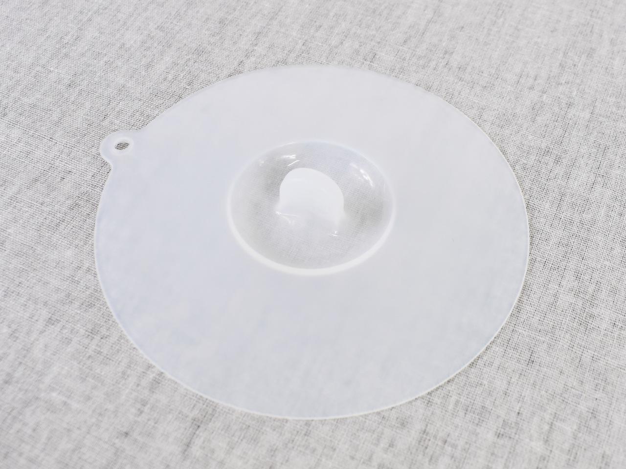 画像: 保存と加熱に対応したダイソーの「シリコーン蓋」