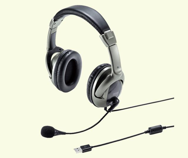 画像: サンワサプライ MM-HSU10GM 実売価格例:3060円 周囲の雑音を拾いにくいノイズキャンセリング機能を搭載。ヘッドセットは、会議のやり取りを家族などに聞かれたくないときなどに便利。