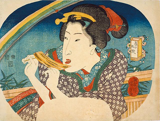 画像: 春の虹蜺(こうげい) 歌川国芳 個人蔵