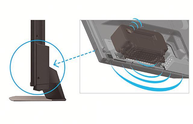 画像: 内蔵スピーカーはバスレフ型スピーカーボックスを採用。低音から高音までクリアな音で再現。
