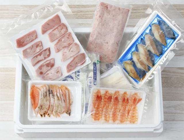 画像: 鮮度が保たれた冷凍の状態で届く senchoku.com