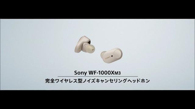 画像: ヘッドホン:完全ワイヤレスに、業界最高クラスノイキャン:WF-1000XM3【ソニー公式】 youtu.be