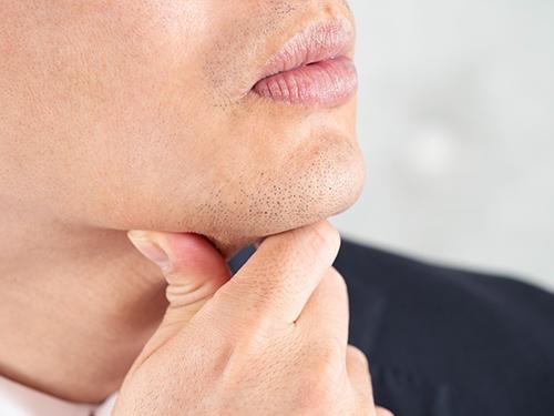 画像: 着目したのは「あご下の剃り残し」