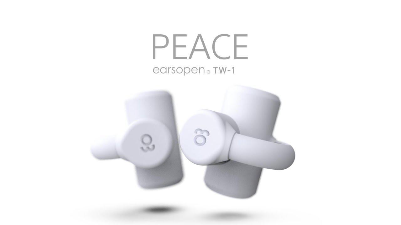 画像: 世界初 完全ワイヤレス骨伝導イヤホン earsopen PEACE TW-1 youtu.be