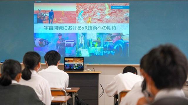 画像: 株式会社amulapoが実施した高校生向けの宇宙開発に関する遠隔授業