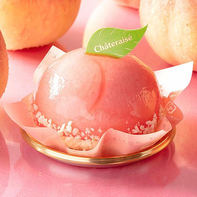 画像: まんまる白桃ケーキは360円(税込388円)。1個当たり367kcal www.chateraise.co.jp