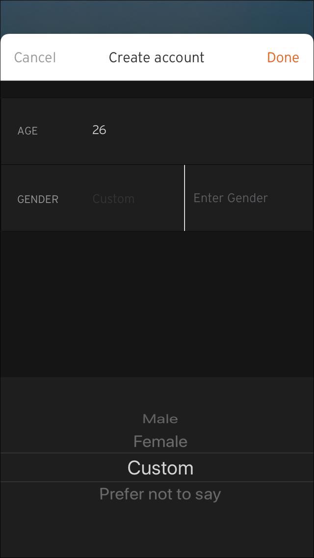 画像: 年齢・性別を登録