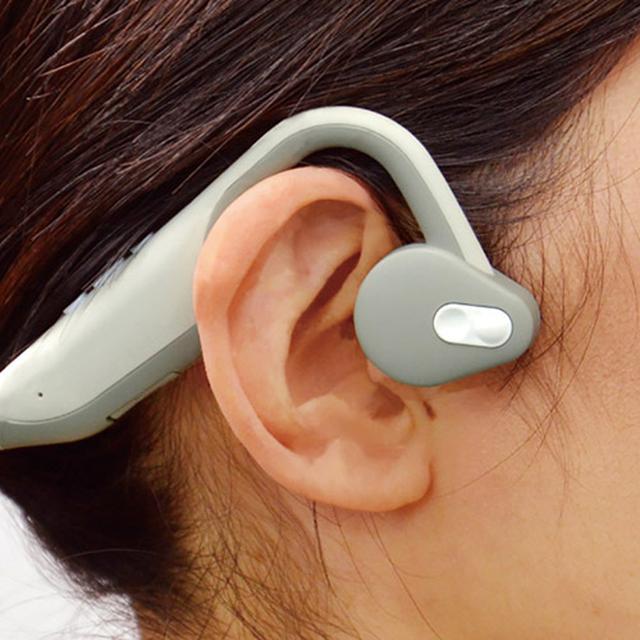 画像1: 日本トラストテクノロジー 集音機能付 骨伝導 福耳ボーンヘッドフォン