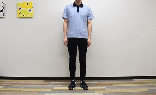 画像: ボディラインがスッキリみえる「エアリズムジャージースリムフィットポロシャツ」