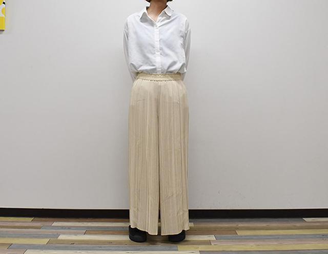 画像: 軽い素材で快適な「シフォンプリーツスカートパンツ」