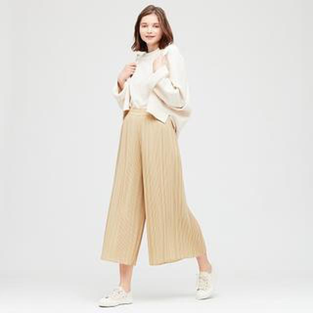 画像: 【ユニクロ】シフォンプリーツスカートパンツ購入レビュー 履き心地抜群!ワンサイズ大きめでスカートっぽく着られる