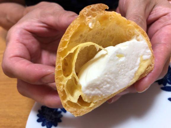 画像: 甘さ控えめのホイップクリームと濃厚なカスタードクリームの相性が抜群!糖質カットを感じさせない満足度です
