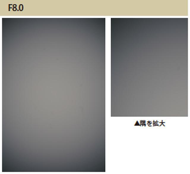 画像: 開放のF1.4での周辺光量落ちは驚くほどではなかったのですが、F8.0まで絞っても周辺光量落ちはあまり改善しません。RAW現像で対応しましょう。