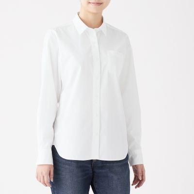 画像: 新疆綿洗いざらしブロードシャツ   無印良品