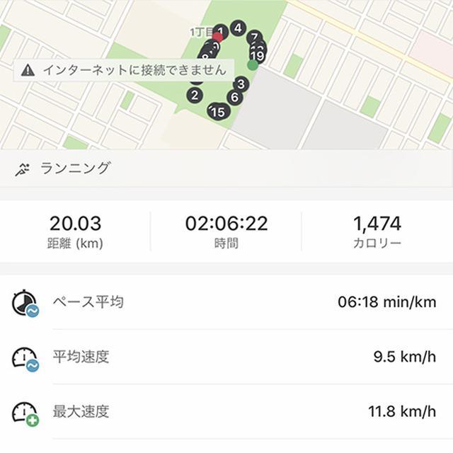 画像: ややゆっくりのペースで20kmのランニングを楽しんでいた。