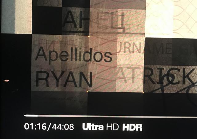 画像: 4Kで配信されている作品は再生画面に「Ultra HD」と表示される。