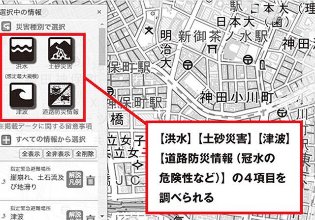 画像: 国土交通省ハザードマップ・ポータルサイトの画面
