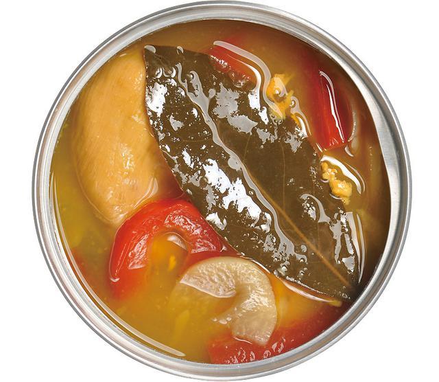 画像: 大きな月桂樹がイタリアンを主張している。ケッパー、パプリカも利いており、ホヤの新たな魅力が引き出された斬新な1缶。