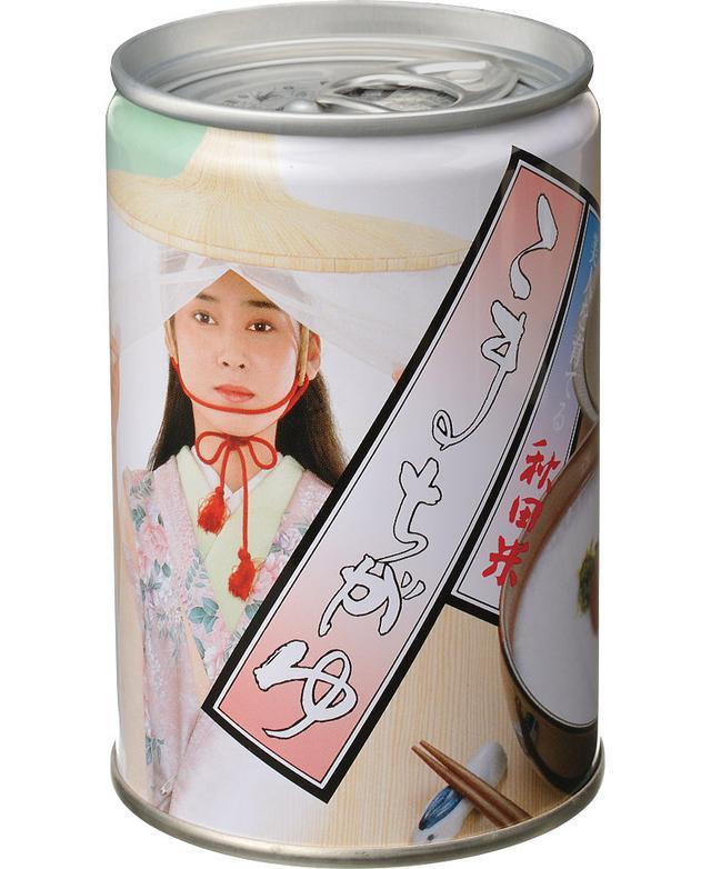 画像: 秋田美人がほほえみかける缶。郷土愛が感じられて泣けてくる(秋田出身じゃないけど)。