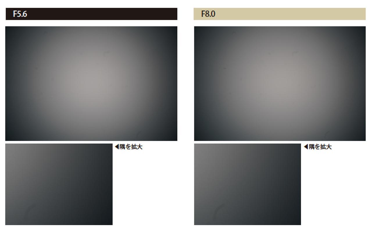 画像: しっかりとした周辺光量落ちが観察されます。絞っても改善しないので、気になるシーンではRAW画像も撮影しておきましょう。