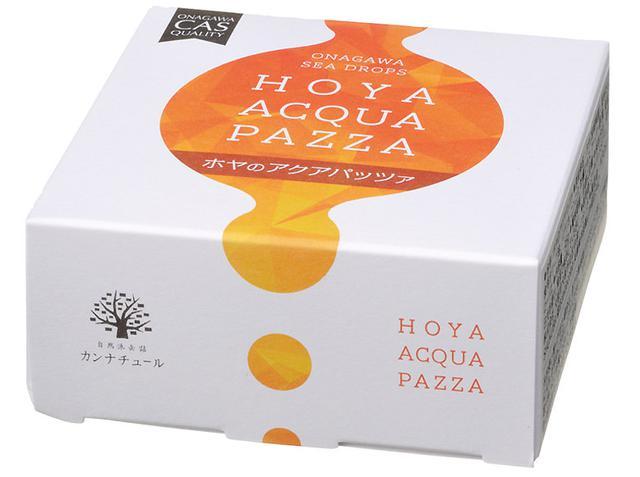 画像: オレンジがホヤの色を表し、先端のしずくはシズルを表現。素晴らしいデザイン。