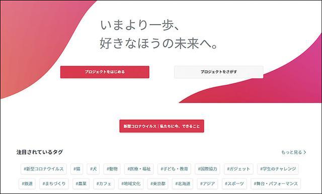 画像: 日本初のクラウドファンディングで支援型が多い 「READYFOR」