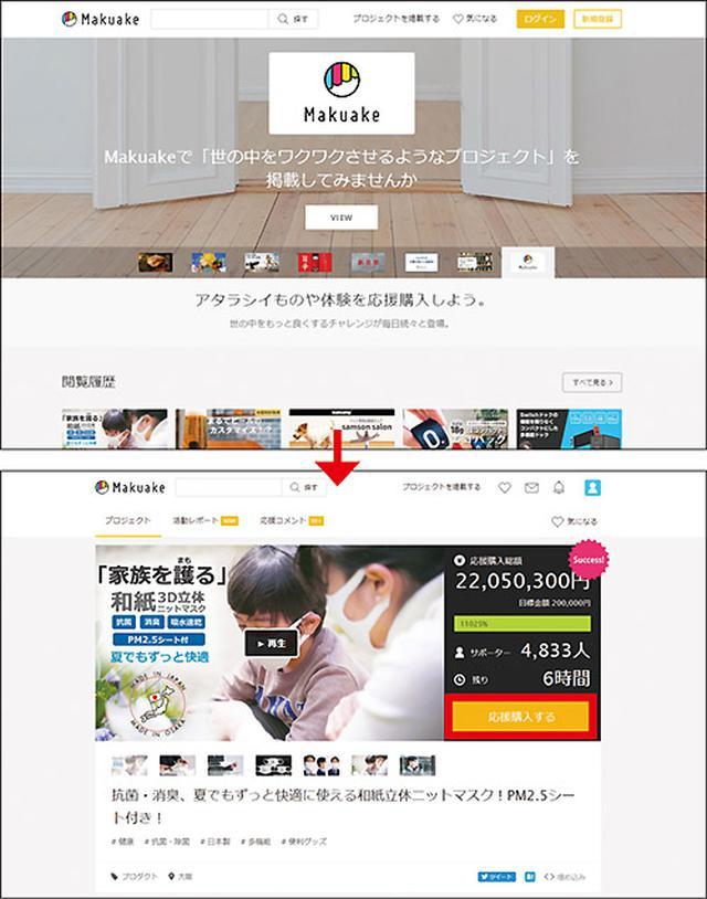 画像: Makuakeのサイトを開き、「新規登録」をクリック。会員登録をしたら、気になるプロジェクトを探し、出資したいプランを選択する。