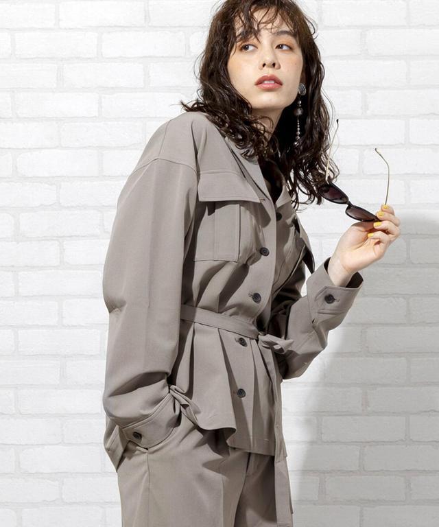 画像: 【セットアップ対応・WEB限定】ウエストマークストレッチオーバーシャツジャケット|coen ONLINE STORE