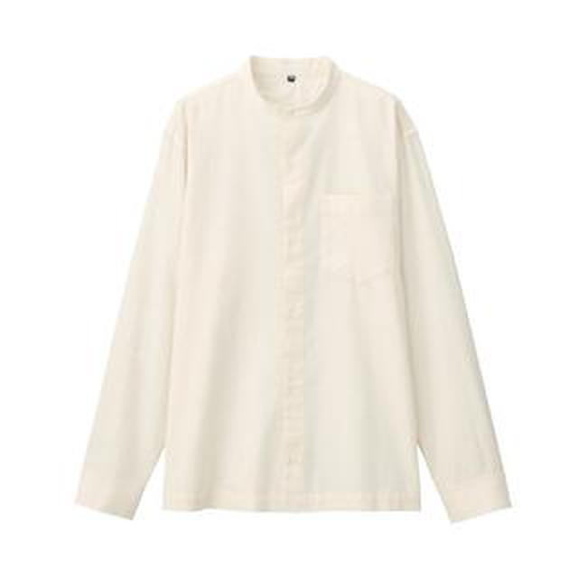 画像: 【無印良品】スタンドカラーシャツ購入レビュー!体型をカバーしながらオシャレに着こなせる万能アイテム