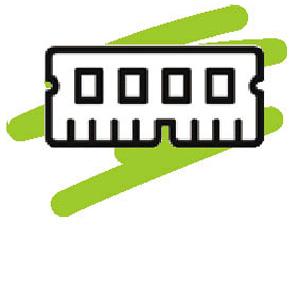 画像: メモリー パソコンの処理を実行する際に、ストレージから読み込んだデータを一時的に格納するための記憶媒体。大容量ほどスムーズに処理をさばける。快適な動作を望むなら、最低8Gバイトは確保したい。