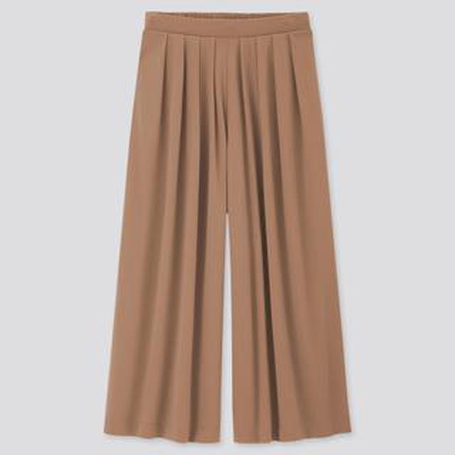 画像: 【ユニクロ】最新秋ボトム「クレープジャージースカートパンツ」購入レビュー! 履きやすくて手放せなくなりそう…