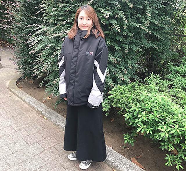 画像: 160cmのイシジマが着用するとこんな感じ。