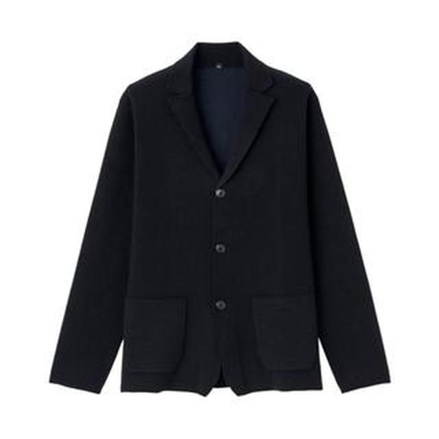 画像2: 【無印良品】秋冬コーデに即投入「ウール混ダブルフェイスジャケット」購入レビュー! カーディガン気分で羽織れて便利