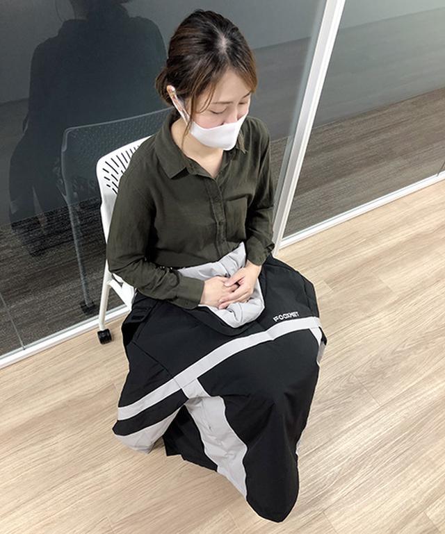画像: オフィスなどでひざ掛けとして使っても◎