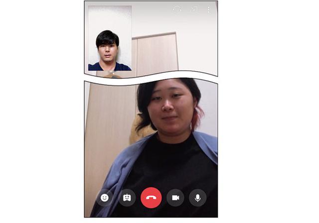 画像2: ●「ビデオ通話を開始」をタップするだけ