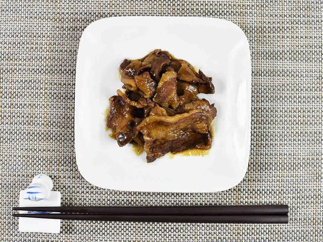 画像: タレに肉の旨味と脂を閉じこめた「イベリコベジョータの旨煮」