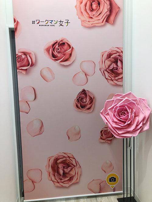 画像: 薔薇の背景。右の薔薇を持つと良いのだそうだ。
