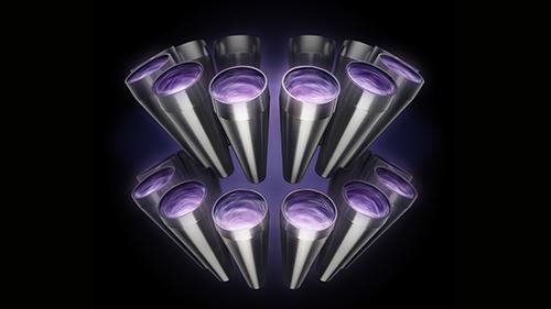 画像: 複数のサイクロンが同時に機能することで、強力な遠心力を生み出し、風量を強め、微細なゴミを分離する。 www.dyson.co.jp