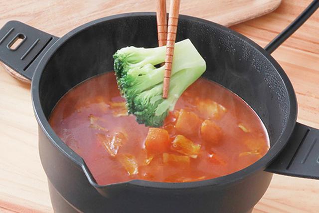 画像2: 使うときだけ伸ばして手軽に一人鍋が楽しめる
